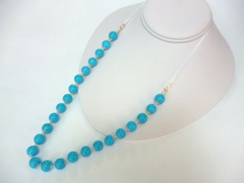 Blue Turquoise 26 inch Necklace